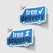 Free delivery, free shipping labels