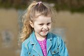 Smiling 4 year old girl.