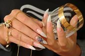 image of nail-art  - Beautiful nails and glass - JPG