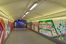 foto of underpass  - abstract graffiti in the underpass in Singapore - JPG