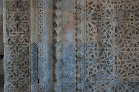 pic of ottoman  - Ottoman relief ornament on the facade of Caravanserai Sultan Han near Kayseri close - JPG