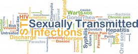 pic of syphilis  - Background concept wordcloud illustration of sexually transmitted infections STI - JPG