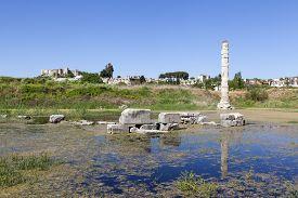 foto of artemis  - Temple of Artemis is one of the 7 wonders of the world of antiquity - JPG