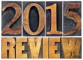stock photo of summary  - 2015 review  - JPG
