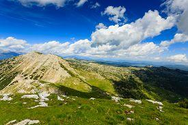 image of italian alps  - Panorama from Italian alps top of a mountain Cima Larici Asiago - JPG