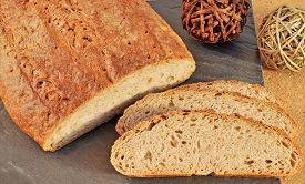 stock photo of home-made bread  - Fresh home - JPG