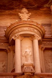 picture of treasury  - Al Khazneh or The Treasury at Petra Jordan - JPG