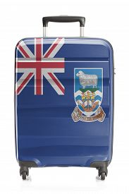 image of falklands  - Suitcase painted into national flag series  - JPG
