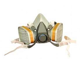 picture of respirator  - Toxic dust respirator isolated on white background - JPG