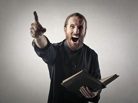 picture of priest  - Priest doing a sermon - JPG