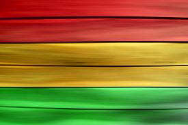 picture of reggae  - Green red yellow wood sheet background  - JPG