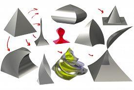 pic of pyramid shape  - grey - JPG