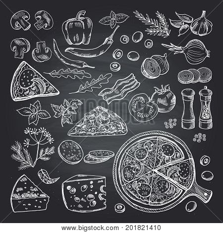 Illustrations of pizza