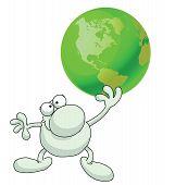 Man groen aarde