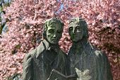 Brother Grimm sculpture in Kassel, Germany