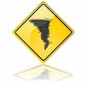 Sinal de aviso de tornado