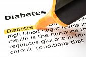 Diabetes Dictionary Definition Orange Marker