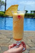 Tropical Drink by the Pool
