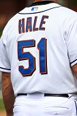 PORT ST. LUCIE, FLORIDA - MARCH 24: New York Mets third base coach Chip Hale at third base during a