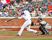 FLUSHING - JUNE 23: New York Mets third baseman David Wright bats against the Detroit Tigers on June
