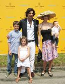 NEW YORK - JUNE 26: Argentine polo player Nacho Figueras and his family attend the Veuve Clicquot Po