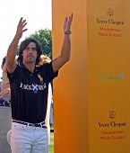 NEW YORK - MAY 30: Argentine polo player Nacho Figueras attends the Veuve Clicquot Manhattan Polo Cl