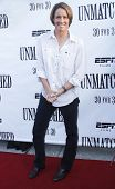 NEW YORK - AUGUST 26: Tennis athlete Mary Carillo attends ESPN Films'