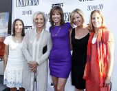 NEW YORK - AUGUST 26: Lisa Lax, Martina Navratilova, Hannah Storm, Chris Evert and Nancy Stern Winte