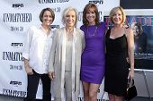 NEW YORK - AUGUST 26: Mary Carillo, Martina Navratilova, Hannah Storm and Chris Evert attend ESPN Fi
