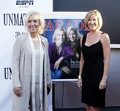NEW YORK - AUGUST 26: Tennis athletes Martina Navratilova (L) and Chris Evert (R) attend ESPN Films'