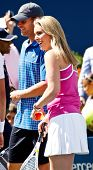 FLUSHING, NY - AUGUST 28: Andy Roddick and Lindsey Vonn attend Arthur Ashe Kids' Day at the Billie Jean King National Tennis Center on August 28, 2010 in Flushing, New York.