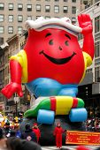 NEW YORK - NOVEMBER 25: The Kool-Aid float appears in the 84th Macy's Thanksgiving Day Parade on Nov