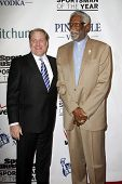 NEW YORK - NOVEMBER 30: Curt Schilling and Bill Russell attend the Sports Illustrated Sportsman of t