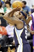 PHOENIX, AZ - NOVEMBER 5: Memphis Grizzlies point forward Zach Randolph (50) shoots a free throw aga