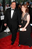 NEW YORK - APRIL 26: New Jersey Governor Chris Christie and wife, Mary Pat attend the Time 100 Gala