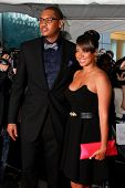 NEW YORK - APRIL 26: Carmelo Anthony and wife, Lala Vasquez attend the Time 100 Gala for the 100 Mos