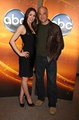 LOS ANGELES - MAY 14:  Michelle Borth, Elias Koteas at the Disney ABC Television Group May Press Junket 2011 at ABC Building on May 14, 2011 in Burbank, CA