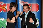 LOS ANGELES - MAY 14:  Leo Howard, Jason Earles at the Disney ABC Television Group May Press Junket 2011 at ABC Building on May 14, 2011 in Burbank, CA
