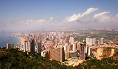 pic of urbanisation  - A view of the Benidorm skyline from a hillside.