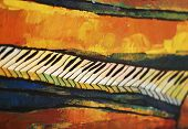 artistic piano closeup
