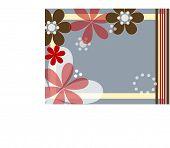 beautiful flower background  vector,