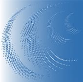 swirl made of blue dots vector