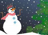 happy snowman - let it snow