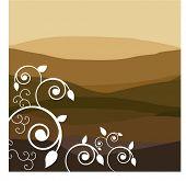 desert landscape with filigree