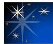 winter stars in the night sky