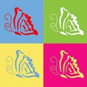 dercorative butterfly series