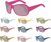 sunglasses vector  isolated choices