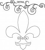 fleur-de-lis decorative illustration