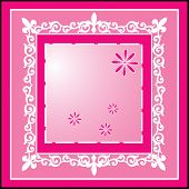 pink picture frame vector