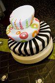 funky retro wedding cake